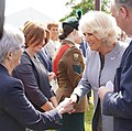 HRH Prince of Wales meets Secretary of State Karen Bradley at the Royal Garden Party held at Castle Coole earlier today. (47957722437).jpg
