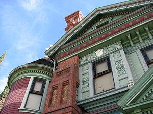 Hale House - close up of Hale House left side