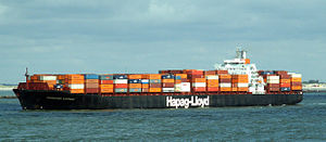 Hannover Express p2, leaving Port of Rotterdam, Holland 10-Aug-2005.jpg