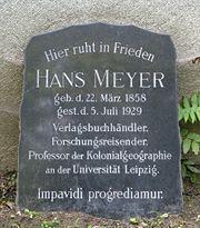 Hans Meyer (geologist) Gravestone