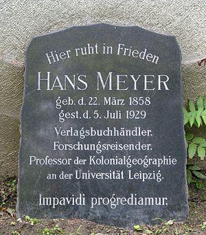 Südfriedhof (Leipzig) - Gravestone of Hans Meyer