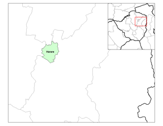 Districts of Zimbabwe - Harare district