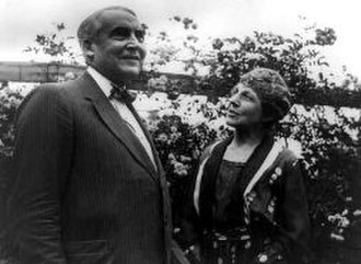 Florence Harding - Warren and Florence Harding in their garden