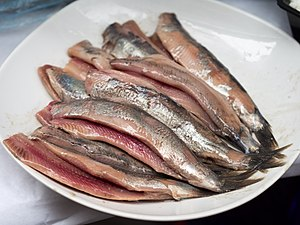 Soused herring - Lightly brined raw herring, also known as Hollandse Nieuwe, Netherlands