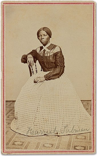 Harriet Tubman, around 1869 Harriet Tubman c1868-69.jpg