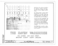 Haven Warehouse, Van Norden and Main Streets, Washington, Beaufort County, NC HABS NC,7-WASH,3- (sheet 1 of 10).png