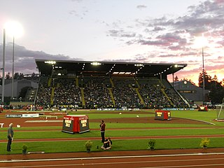 track and field stadium, located in the northwest United States in Eugene, Oregon