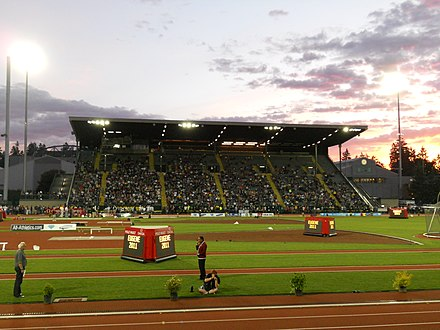 Hayward Field, venue of the Eugene bid, which failed to win the 2019 hosting rights but was awarded the 2021 event. Hayward Field 6-4-11.JPG
