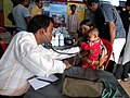 Health check-up in progress at a medical camp, organised during Bharat Nirman Public Information Campaign, at Sabang, Paschim Medinipur, in West Bengal on February 14, 2011.jpg