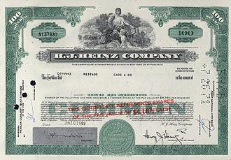 Scripophily - H. J. Heinz Company