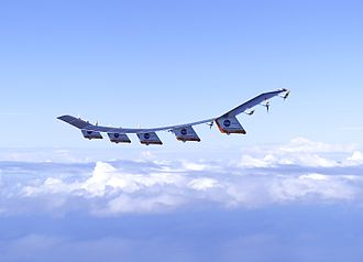 Aviation - NASA's Helios researches solar powered flight.