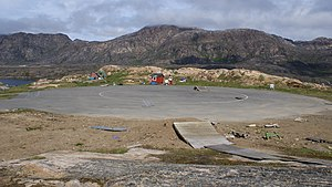 Sisimiut Airport - The helipad at the old, now closed heliport east of Sisimiut.