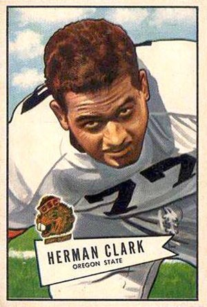 Herman Clark - Clark on a 1952 Bowman football card