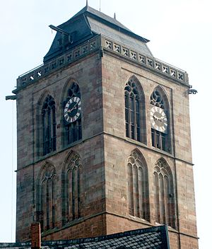 Bad Hersfeld - The town's landmark, the tower of the Hersfelder Stadtkirche (Town church)