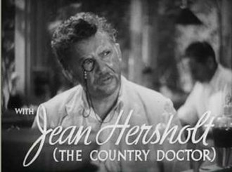 Leslie Nielsen - Nielsen's half-uncle Jean Hersholt (pictured here in the 1936 film His Brother's Wife) inspired him to become an actor.