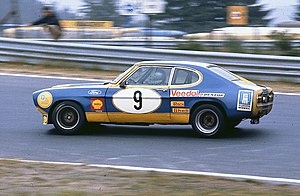 Hans Heyer - Hans Heyer driving a Ford Capri at the Nürburgring in 1973.