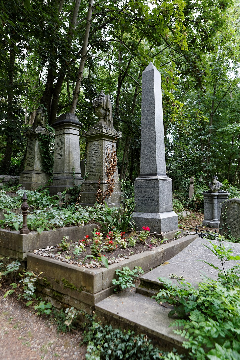 Highgate Cemetery - East - George Eliot 01