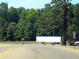 Arkansas Highway 27 - US 59/US 71 serves as the southern terminus of Highway 27 near Ben Lomond.