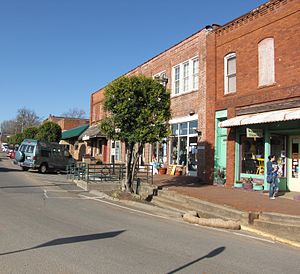 Pittsboro, North Carolina - Hillsboro Street in downtown Pittsboro