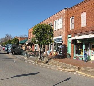 Pittsboro, North Carolina - Hillsboro Street in downtown Pittsboro
