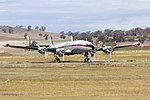 Historical Aircraft Restoration Society (VH-EAG) Lockheed Super Constellation 'Connie' at Wagga Wagga Airport.jpg