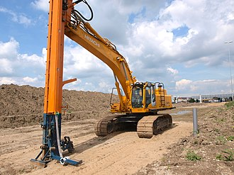 Hitachi - A Hitachi hydraulic excavator in use