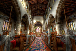 Barrow upon Soar - Interior view of the church of the Holy Trinity