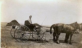 Marmarth, North Dakota - Homesteader Michael Zeis arrives at Marmarth in 1913.