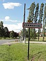 Hommarting (Moselle) city limit sign.jpg