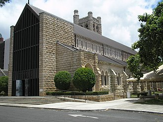 Cathedral Church of Saint Andrew (Honolulu) - Image: Honolulu St Andrews cathedral nave stone