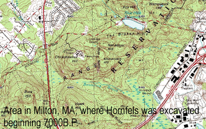Massachusetts Hornfels-Braintree Slate Quarry - Hornfels