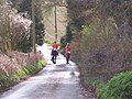 Horseriders on Brimstone Hill Road - geograph.org.uk - 1227520.jpg