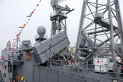 Hsiung Feng II and Hsiung Feng III Anti-Ship Missile Launchers Upper Deck, ROCN Pan Chao (PFG2-1108)
