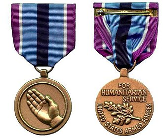 Humanitarian Service Medal - Obverse and reverse of the Humanitarian Service Medal