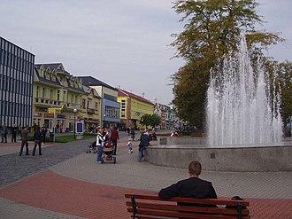 Humenné - A square in Humenné