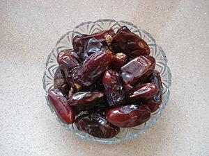 Date palm fruit from Saudi Arabia