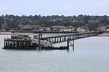 Hythe pier from a red funnel ferry.JPG
