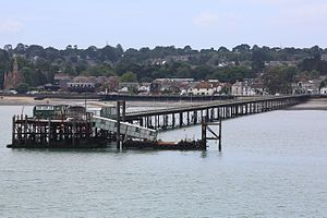 Hythe Pier, Railway and Ferry - Image: Hythe pier from a red funnel ferry