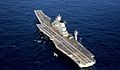 INS Vikramaditya (R33) with a Sea Harrier aircraft in the Arabian Sea.jpg