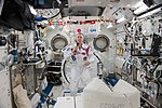 ISS-55 Drew Feustel talks to dignitaries on Earth inside the Kibo lab.jpg