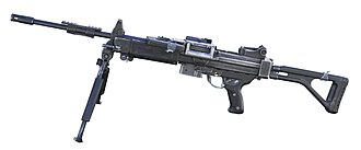 Israel Weapon Industries - Image: IWI Negev Zachi Evenor 01 white