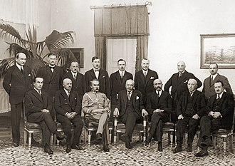 Walery Sławek - Polish government in 1930 (Sławek is sitting fifth from left)
