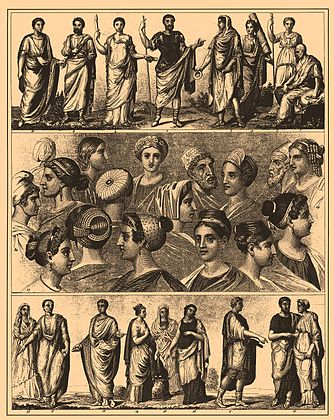 Ancient Roman culture, the Toga and citizens.