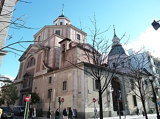 San Sebastian Church, Madrid - View from the south-west angle