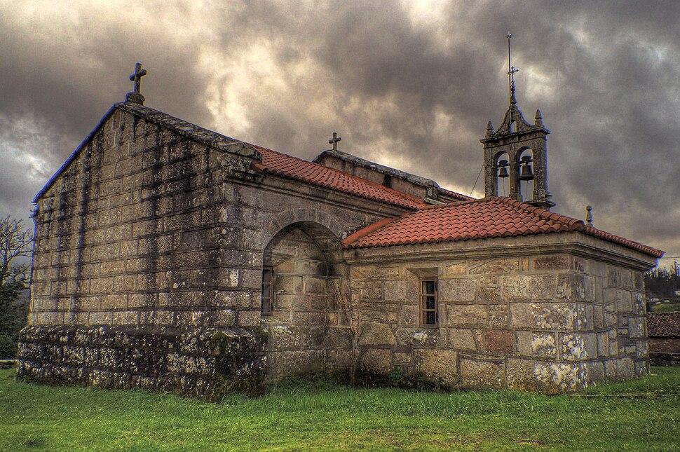 Igrexa parroquial de San Xoan da Riba, A Baña, Galicia, Spain