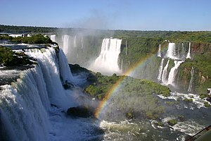 Sierra de la Plata - Iguazú Falls on the border of Argentina and Brazil.