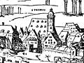 Illustrierte Geschichte d. sächs. Lande Bd. II Abt. 1 - 041 - Belagerung Leipzigs 1547 (cropped).jpg