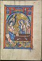 Images from the life of Christ - The three Maries at the empty tomb - Psalter of Eleanor of Aquitaine (ca. 1185) - KB 76 F 13, folium 023r.jpg