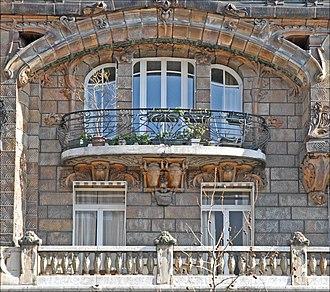 Lavirotte Building - Image: Immeuble art nouveau de Jules Lavirotte à Paris (5510661680)