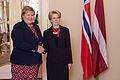 Ināra Mūrniece tiekas ar Norvēģijas premjerministri (15950066196).jpg